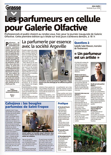 GALERIE OLFACTIVE article Nice Matin 360px
